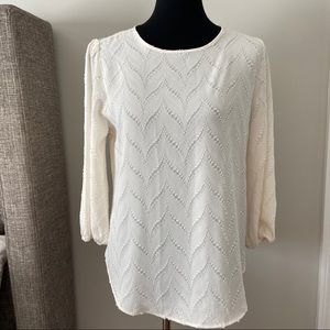NWT Investments off white blouse